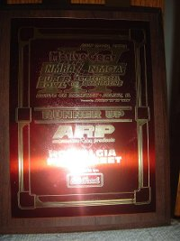 Drag racing trophy award