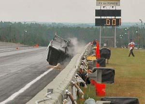 drag racing crash